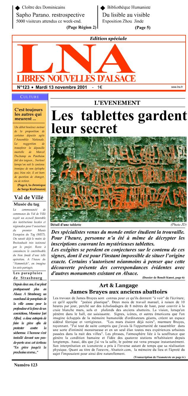 Les tablettes gardent leur secret