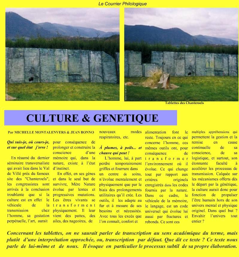 Culture et Génétique
